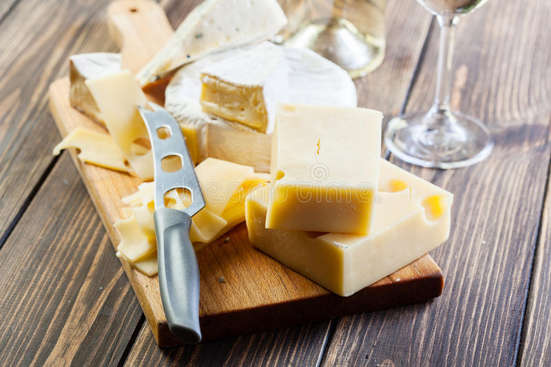 Assorted cheeses royalty free stock photos