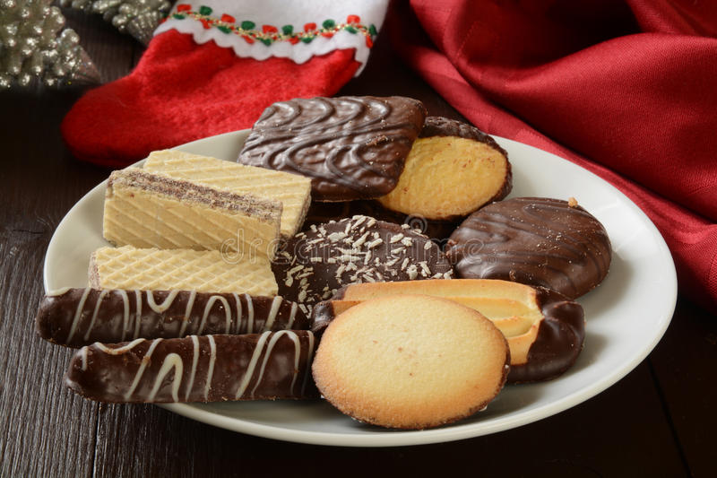 Assorted Christmas Cookies royalty free stock photos