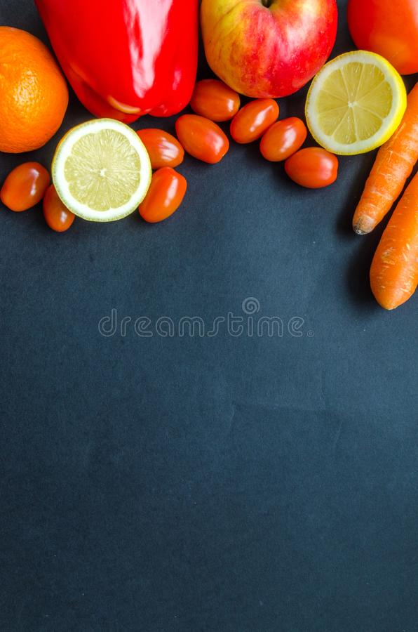 Assorted Citrus Fruits and Vegetables royalty free stock images