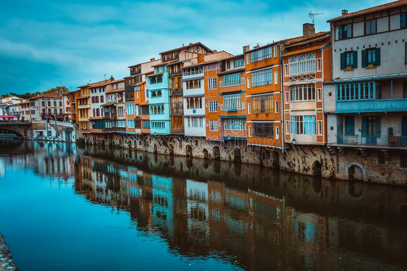 Assorted-color Concrete Buildings Beside River at Daytime royalty free stock image