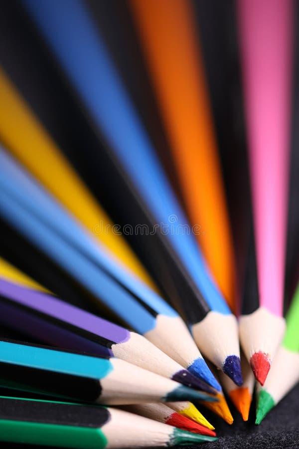 Assorted-color Pencils stock photos