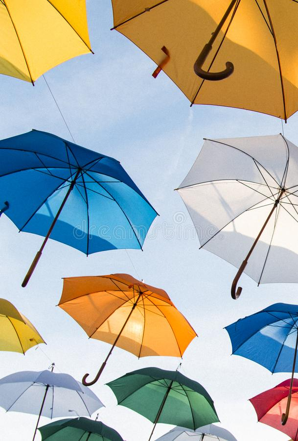 Assorted-color Umbrella Lot royalty free stock photos