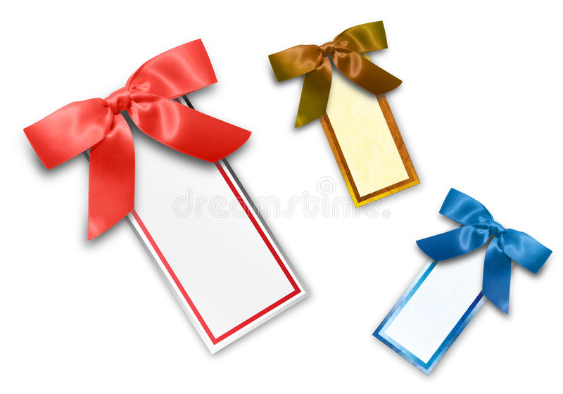Assorted Colored Blank Sales Tags royalty free illustration