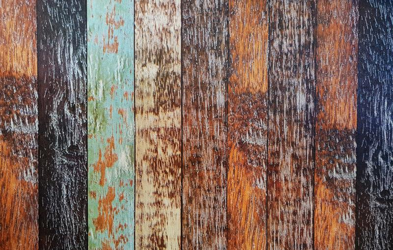Assorted-colored Wooden Planks royalty free stock photos