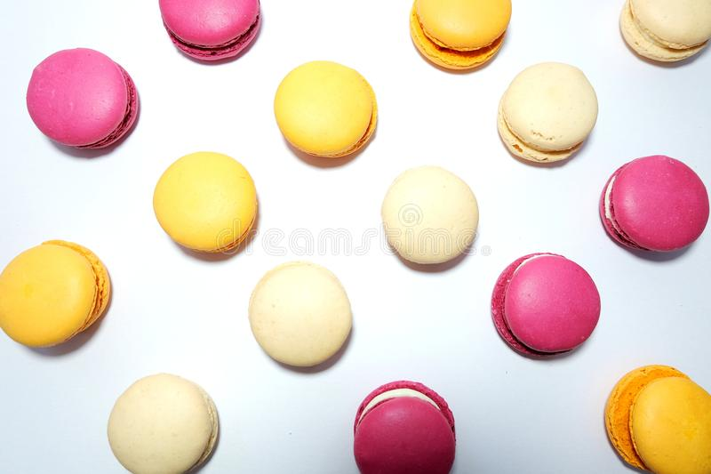 Assorted Coloured Macaroons royalty free stock photo