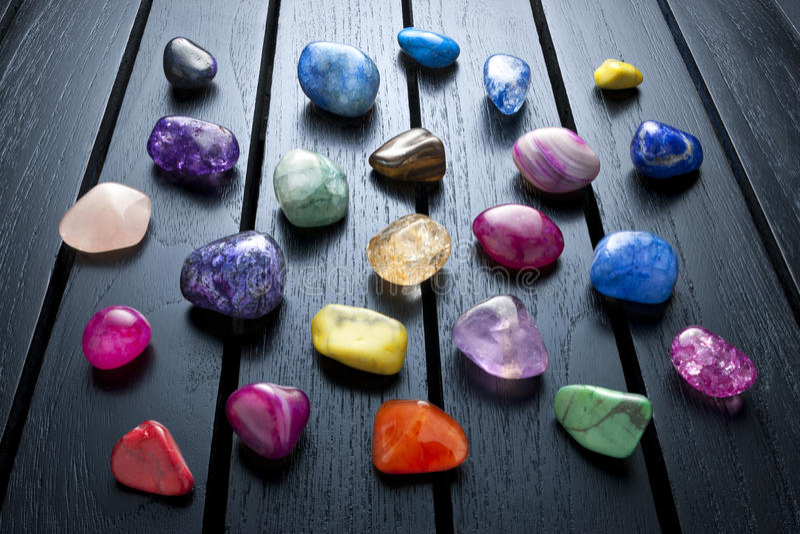 Crystals Gemstones Healing Rocks royalty free stock photos
