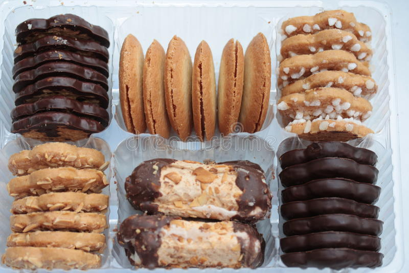Assorted cookies stock photography