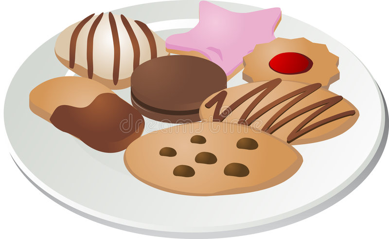 Assorted cookies royalty free illustration