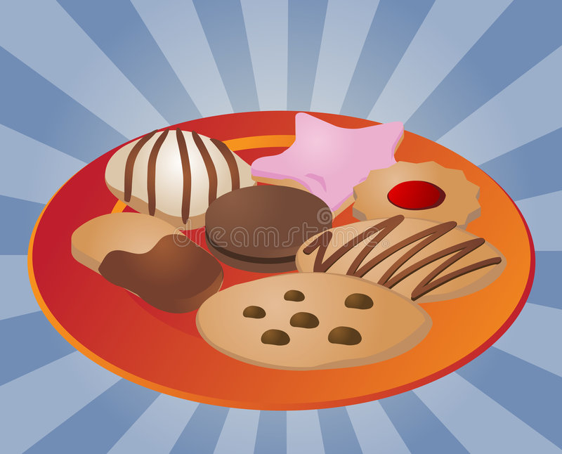 assorted cookies on plate stock vector illustration of clipart rh dreamstime com plate of cookies clipart free Cookie Tray Clip Art