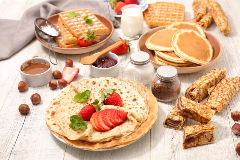 Assorted crepe royalty free stock images