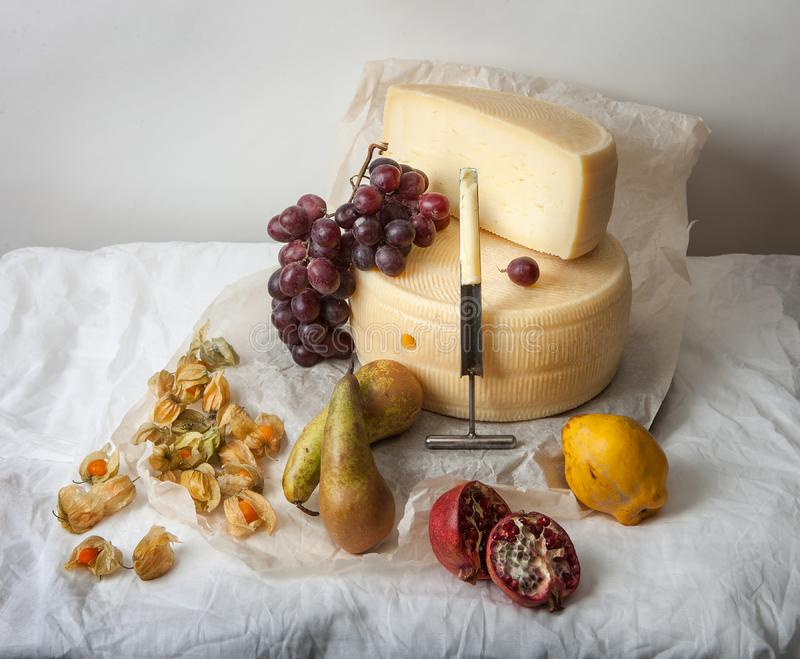 Delicious cheese on the table royalty free stock image