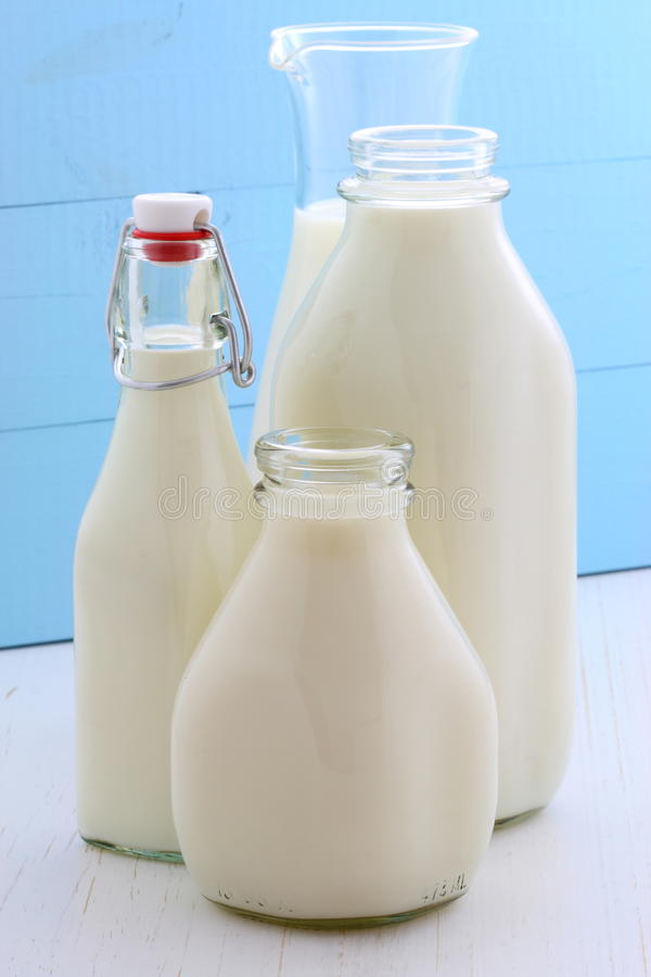 Assorted and delicious milk stock photo