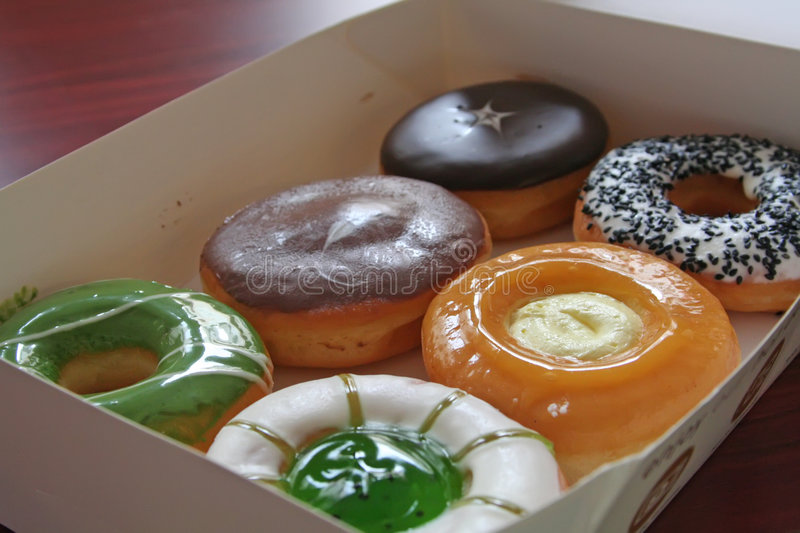 Assorted donuts royalty free stock image