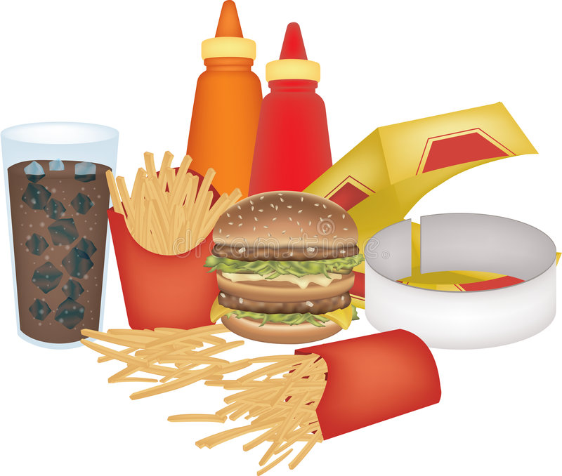 Download Assorted fast food stock illustration. Image of graphic - 7017197