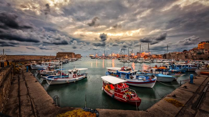 Assorted Fishing Boats royalty free stock photos