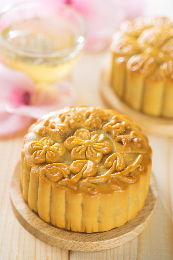 Assorted fruits nuts mooncakes stock photos