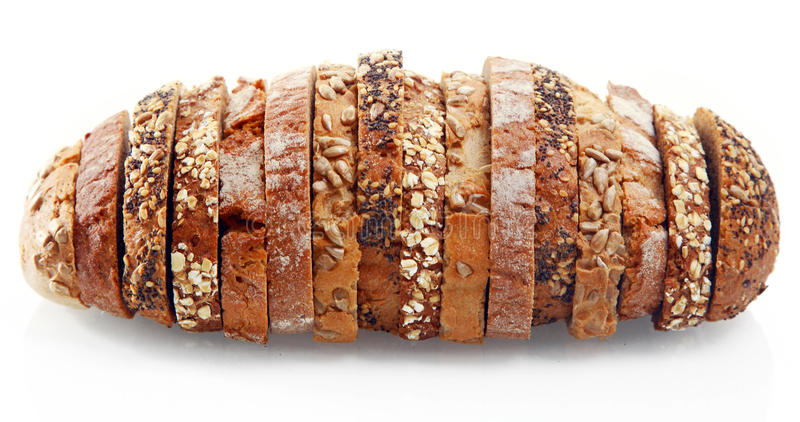Assorted German Bread Slices Formed as One royalty free stock images