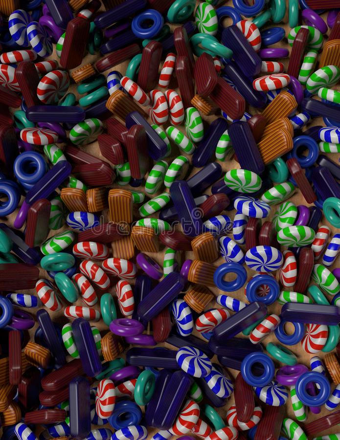 Assorted hard candy for a background vector illustration