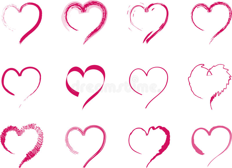 Download Assorted Hearts stock vector. Image of hearts, love, romancing - 7891443