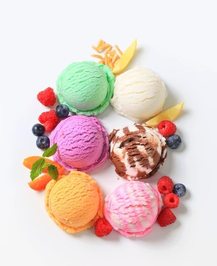 Assorted ice cream stock photography