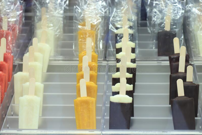 Assorted ice pops royalty free stock images