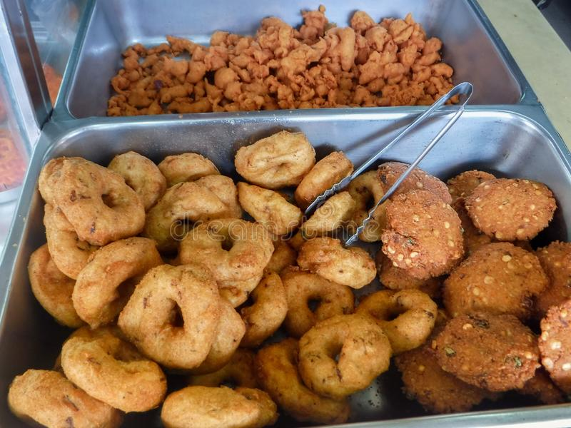 Assorted Indian snacks in Little India Town. stock photo