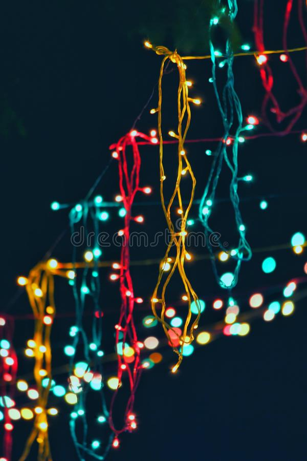 Assorted Lighted String Lights stock images