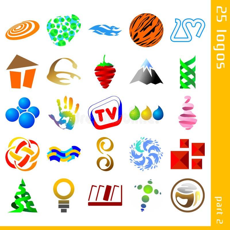 Download Assorted logos 2 stock vector. Illustration of burgundy - 23438091