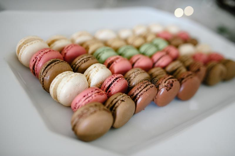 Assorted Macaroons royalty free stock image