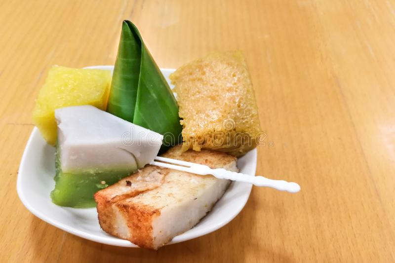 nyonya kuih malaysia kueh assorted served plate serving