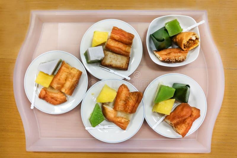 nyonya kueh assorted malaysia kuih served plate tray serving