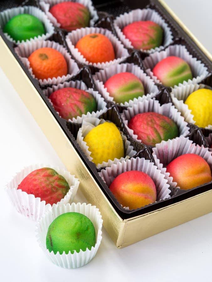Assorted Marzipan Fruit royalty free stock photos