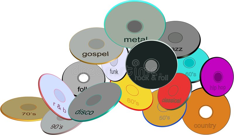 Download Assorted Music  Genre Disks Stock Illustration - Image: 8499166
