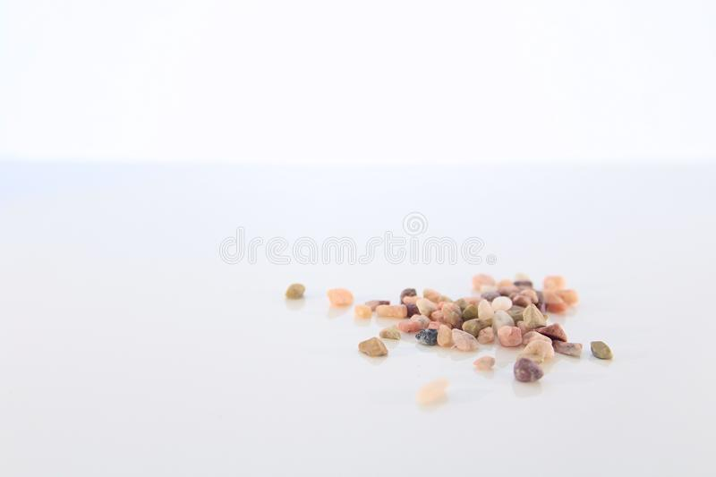 Assorted Natural Stones Isolated stock images