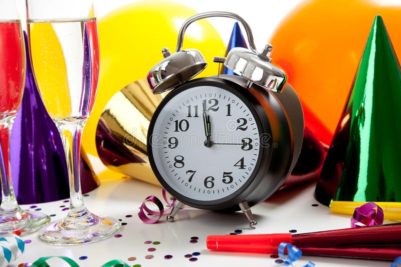 Download Assorted New Year's Eve Party Supplies Stock Photo - Image: 12104848
