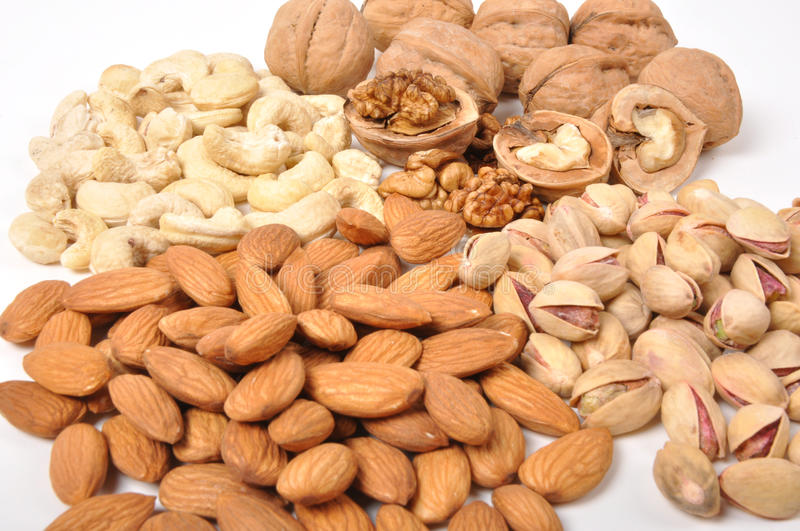Assorted nuts stock photography