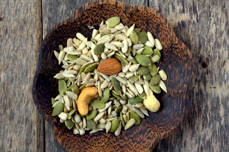 assorted nuts στοκ εικόνα