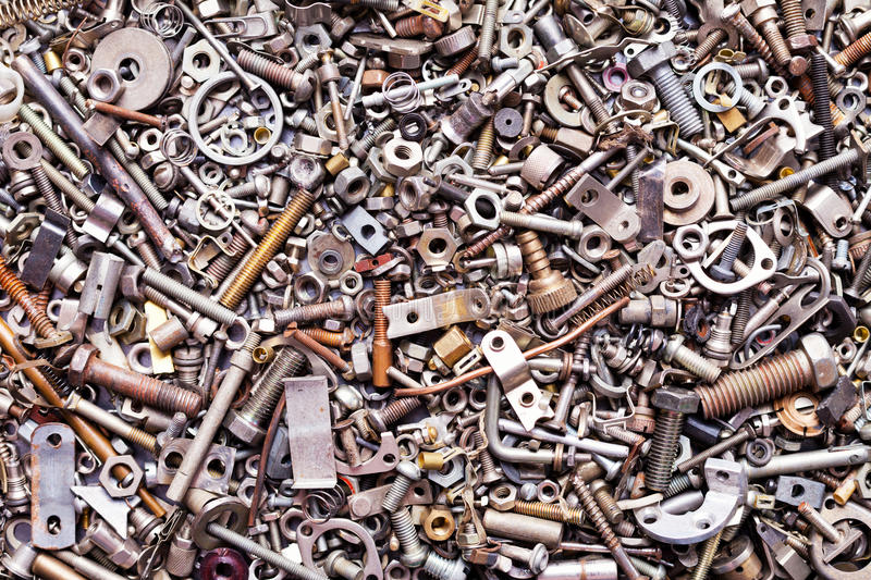 Download Assorted nuts and bolts stock photo. Image of gray, background - 21463064