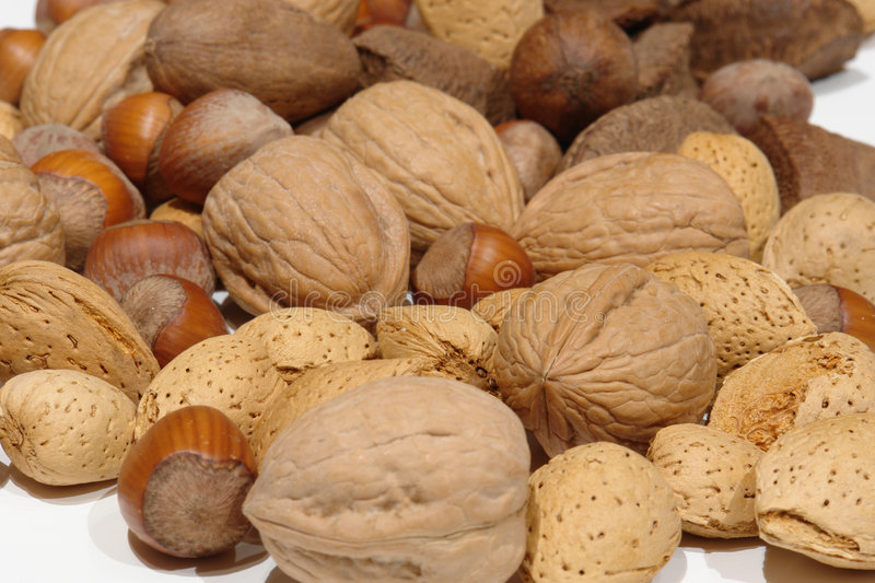 Download Assorted Nuts on white stock image. Image of shell, nutter - 1989307