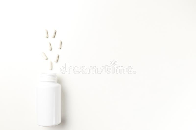Assorted pharmaceutical medicine pills royalty free stock photo