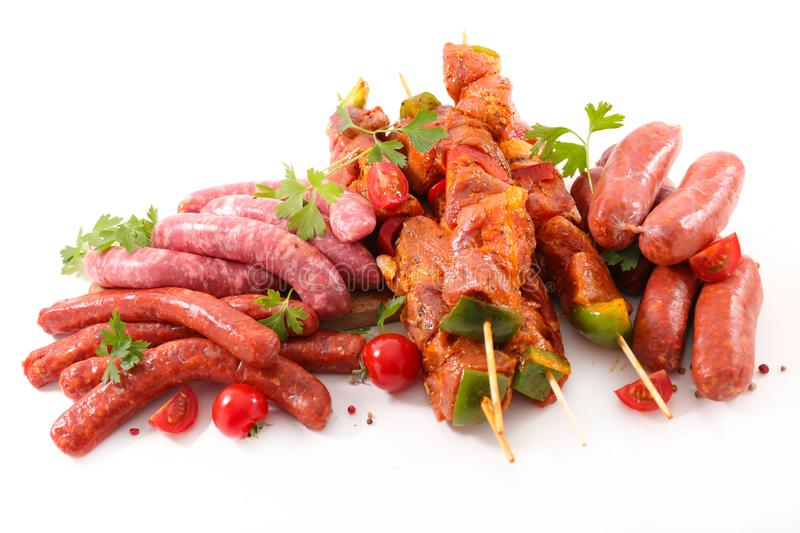 Assorted raw meat royalty free stock photo