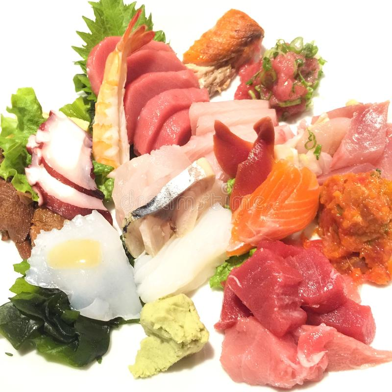 Assorted sashimi royalty free stock photo