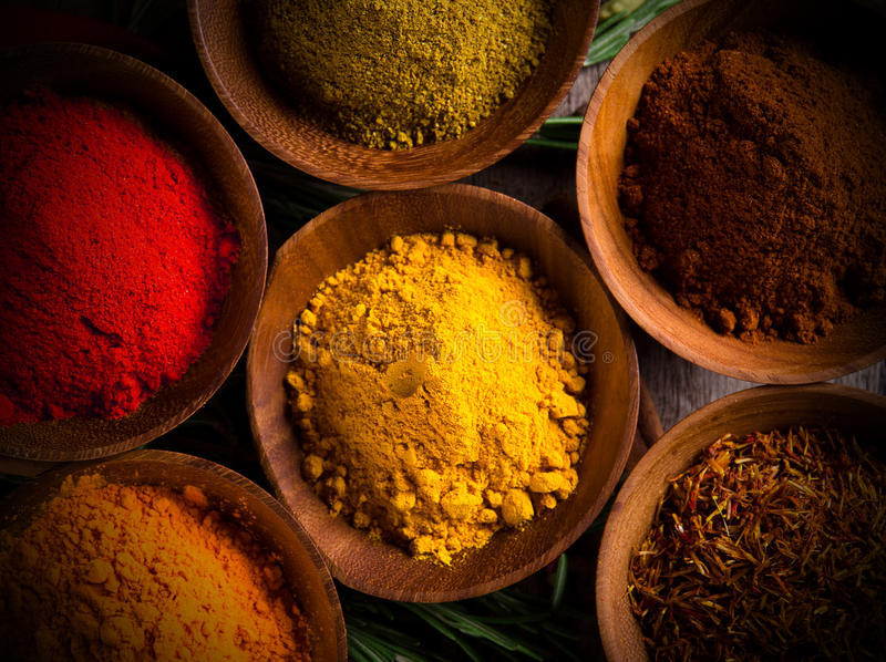 Assorted Spices Royalty Free Stock Photos