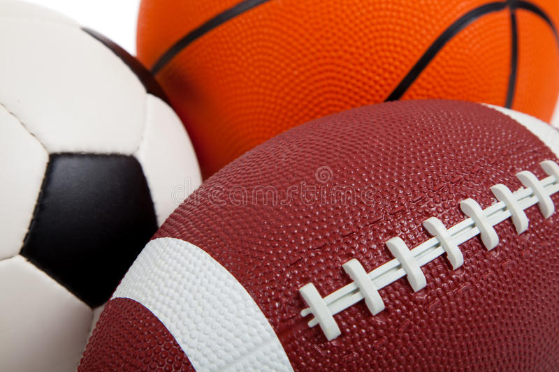 Download Assorted Sports Balls On White Stock Image - Image: 10601159