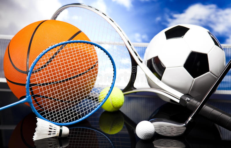 Download Assorted sports equipment stock image. Image of outdoor - 65051669