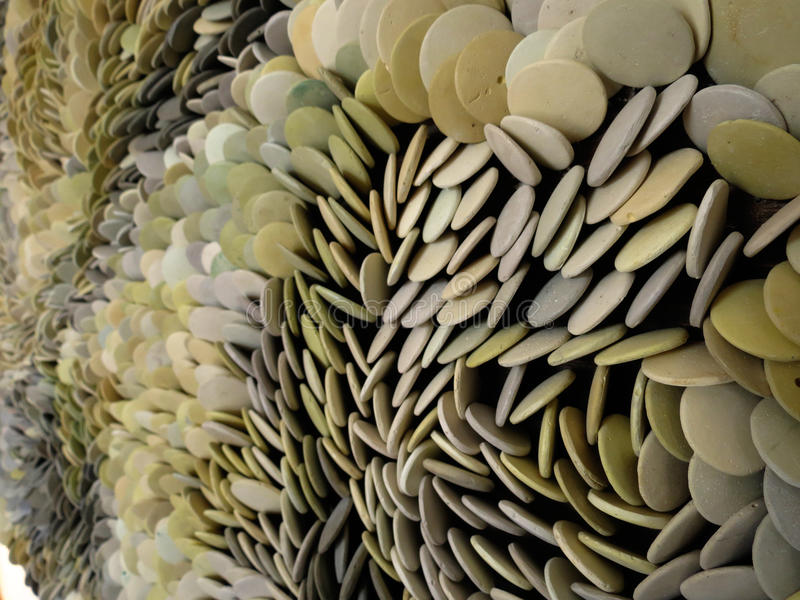 Assorted stone pebbles in different colors macro stock photography