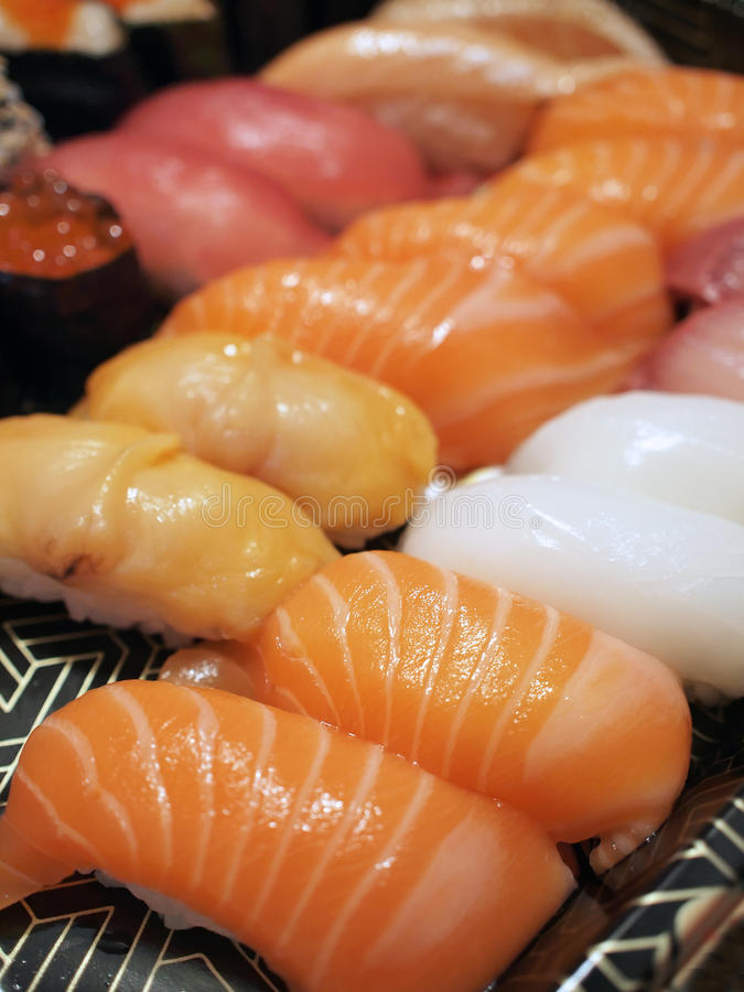 Assorted sushi royalty free stock photos