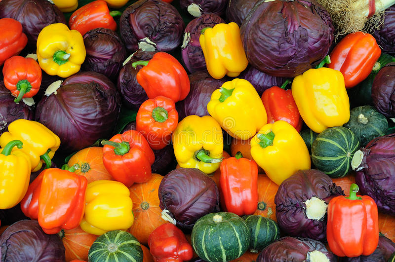 Assorted vegetable background stock photo