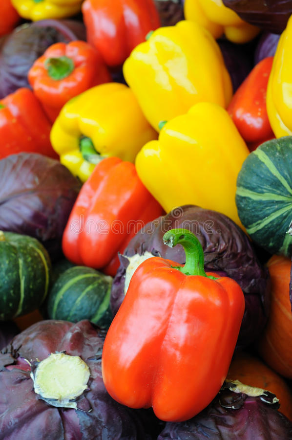 Assorted vegetable background stock image