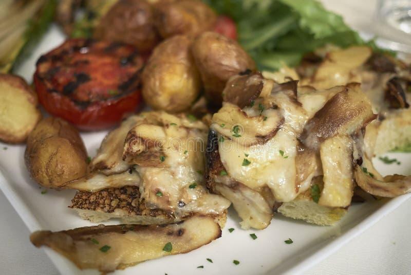 Assorted vegetarian plate stock image